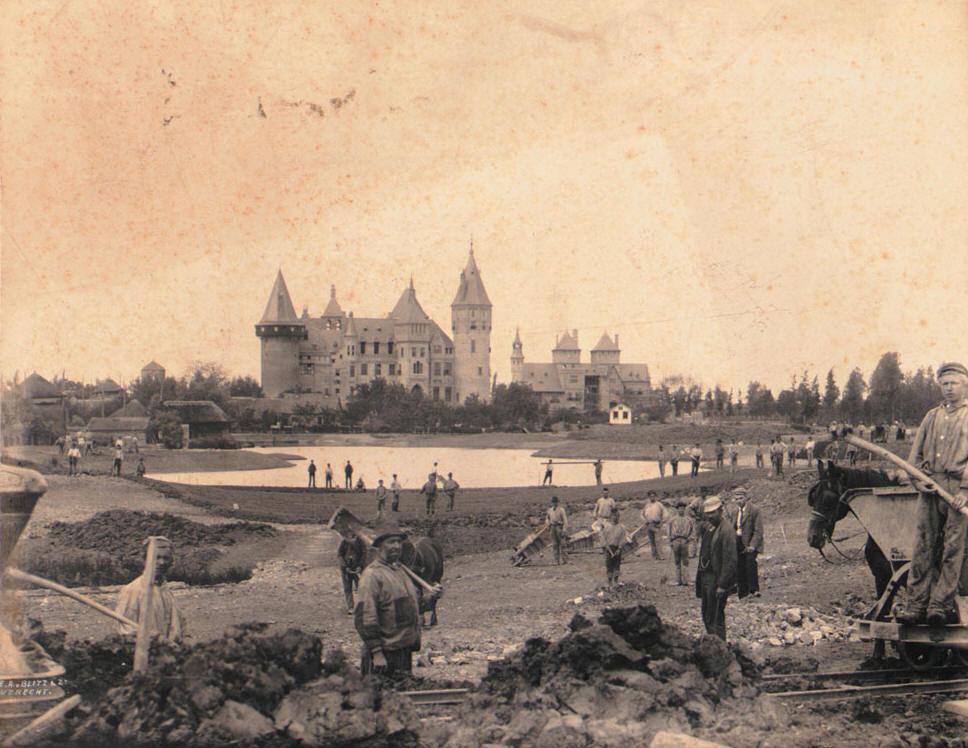 Kasteel De Haar (Haarzuilens), tuinaanleg (1898)